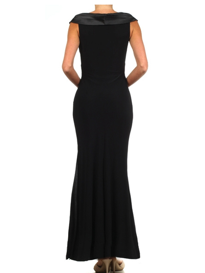 E2043 Timeless Evening Dress - Black, Back View Medium