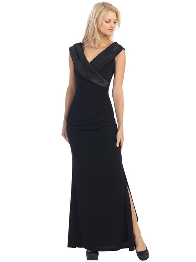 E2043 Timeless Evening Dress - Black, Front View Medium