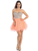 Sweethear Jeweled Bodice Homecoming Dress