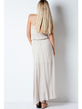 END1796 Crinkle Tube Maxi Dress - Natural, Back View Thumbnail