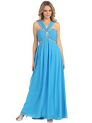 Halter Chiffon Evening Dress