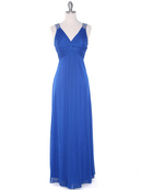 EV3065 Knot Decor Evening Dress, Royal Blue