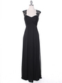 EV3073 Lace & Cap Sleeves Shoulder Evening Dress