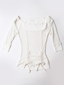 FH001 Boatneck Mesh Top, Off White