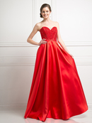 FY-CB763 Sweetheart Beaded Bodice Ball Gown, Red