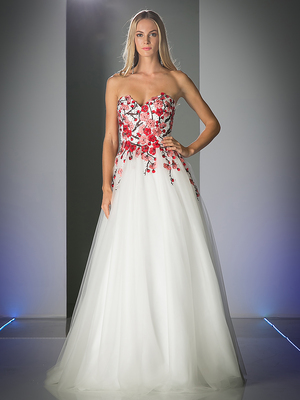FY-CK70 Cherry Blossom Sweetheart Ball Gown, Off White