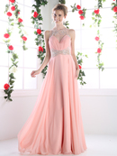 FY-CK78 Illusion Sweetheart Prom Evening Dress, Blush
