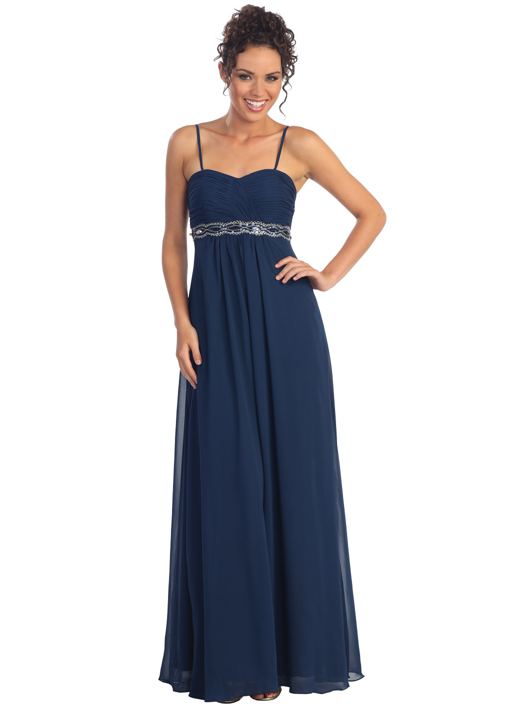 Chiffon Empire Waist Evening Dress