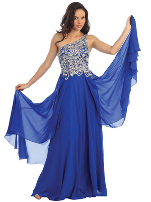 GL1128 Sass and Class Prom Dress, Royal