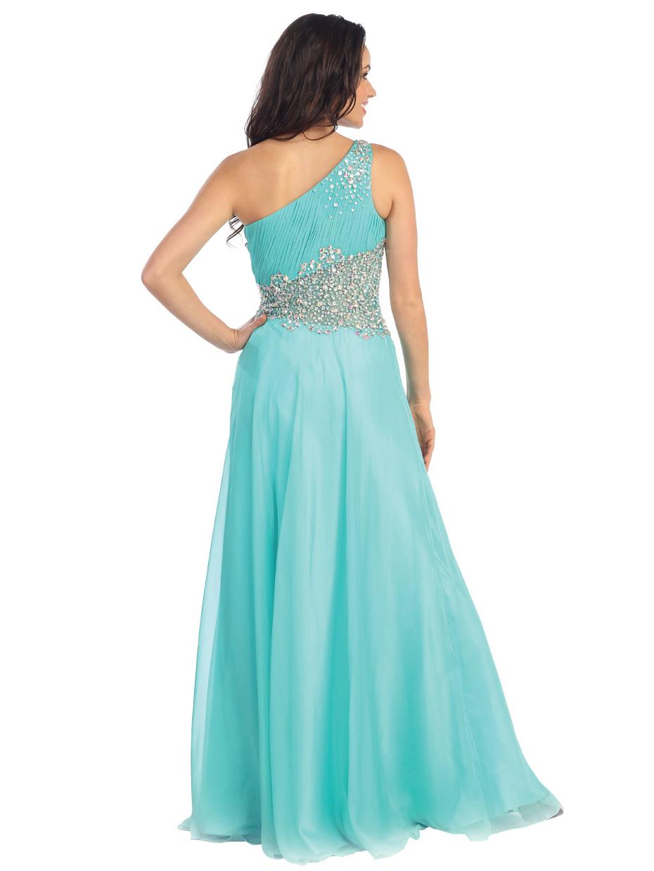 Single Shoulder Grecian Goddess Prom Dress | Sung Boutique L.A.