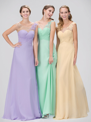 GL1332X Mock One Shoulder Bridesmaid Dress, Champagne
