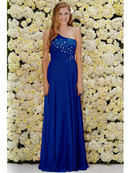 GL2021 One Shoulder Prom Dress, Royal Blue