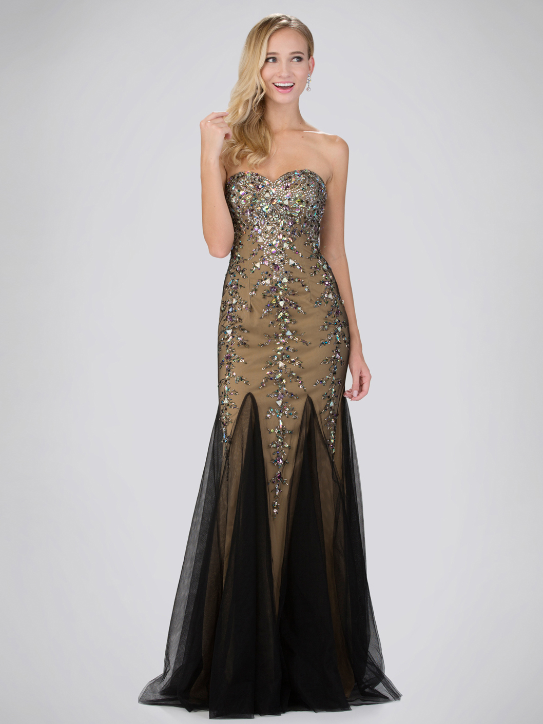 Sequined Sweetheart Tulle Prom Dress Sung Boutique L A