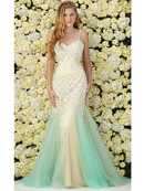 GL2081 Tulle Prom Dress, Tiffany Nude