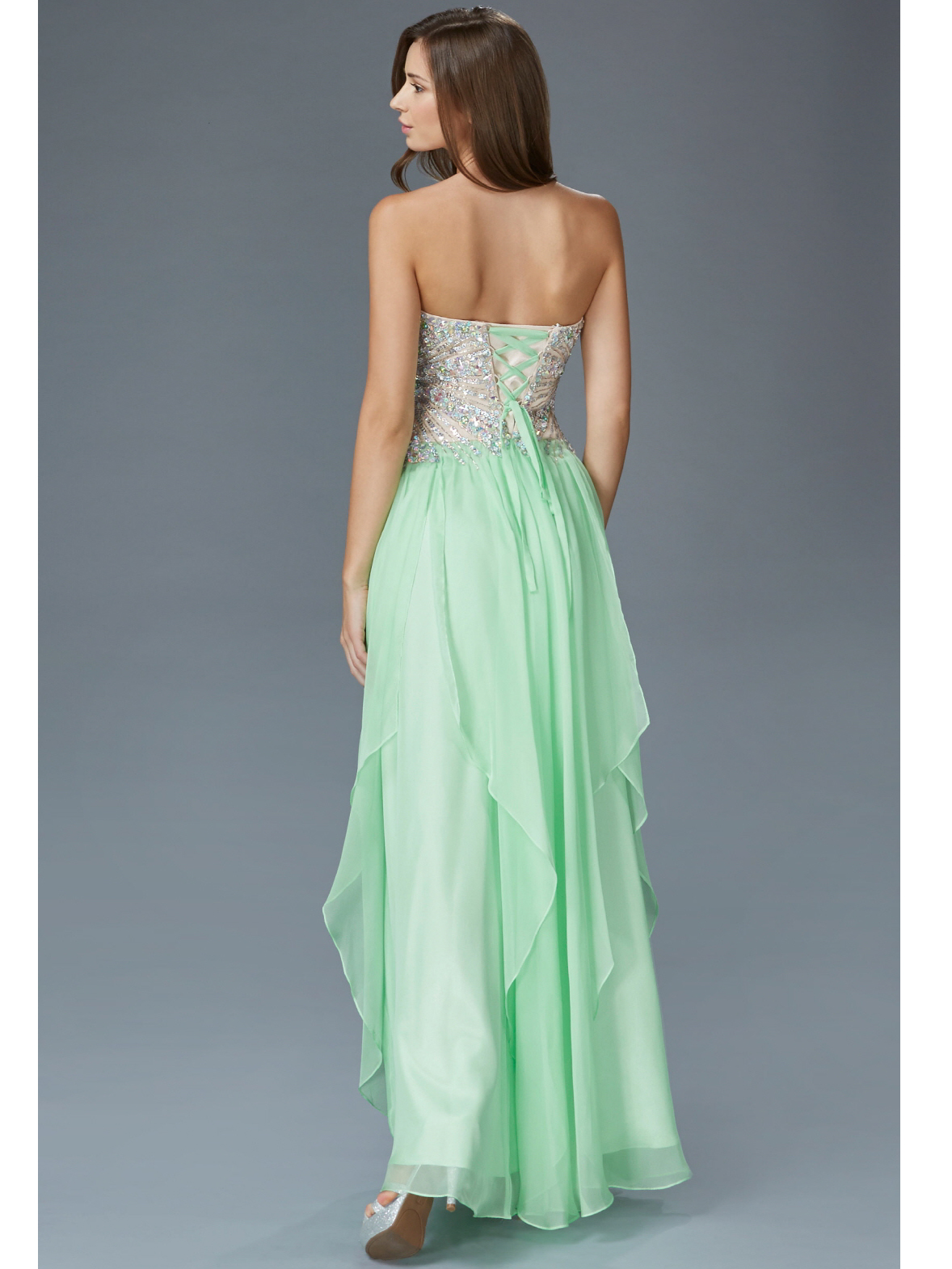 embellished bodice strapless prom dress sung boutique la