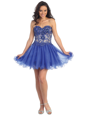 GS1110 Baby Doll Darling Homecoming Dress , Royal