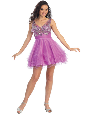 GS1126 Perfectly Perky Party Dress, Purple