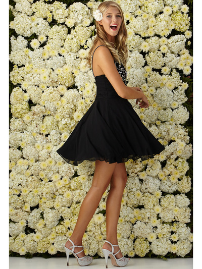 GS2026 Fit and Flare Cocktail Dress - Black, Alt View Medium