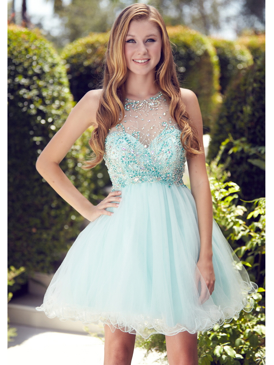 Illusion Short Prom Dresses