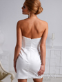 Ivory Sweetheart Crystal Embellished Cocktail Dress By Terani - Back Image