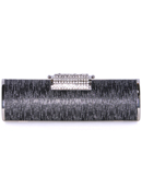 Black Silver Evening Clutch