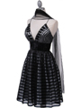 Black Lace Cocktail Dress - Alt Image