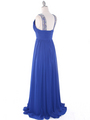 J1332S Jeweled Evening Dress - Royal Blue, Back View Thumbnail