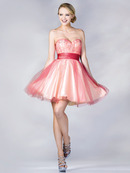 Mesh Layer Sweetheart Homecoming Dress