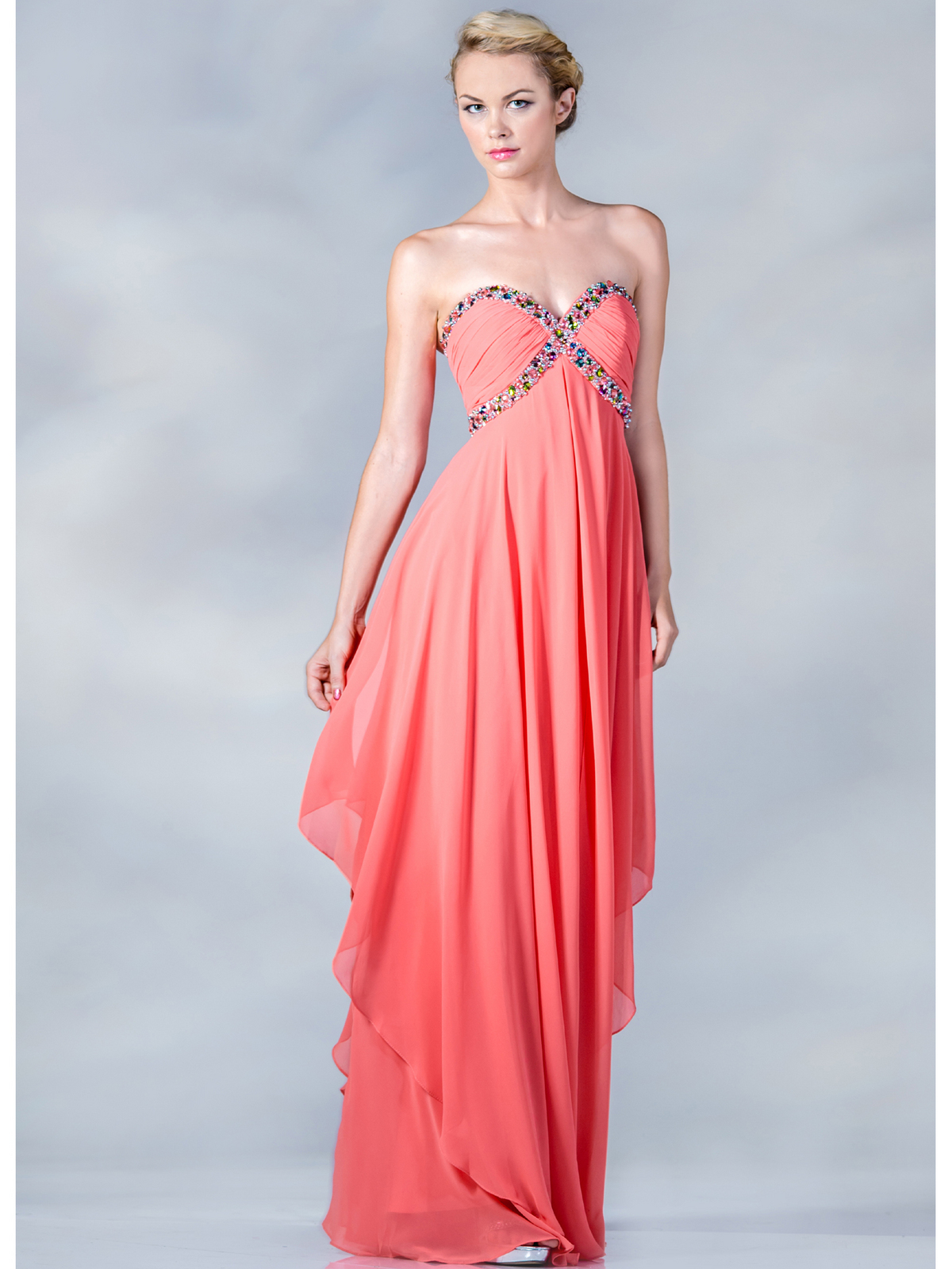 Strapless Beaded Prom Dresses