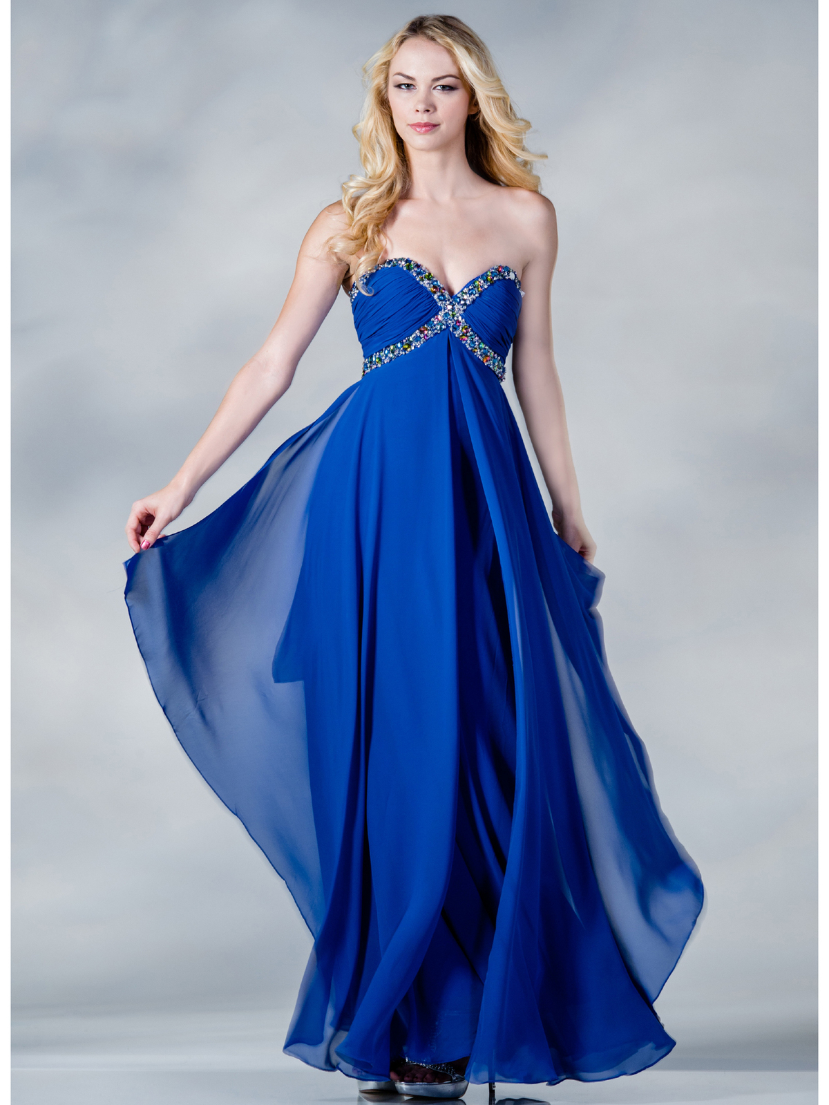 BLUE PROM DRESS - Kalsene Fede