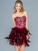 Feathered Skirt Cocktail Dress