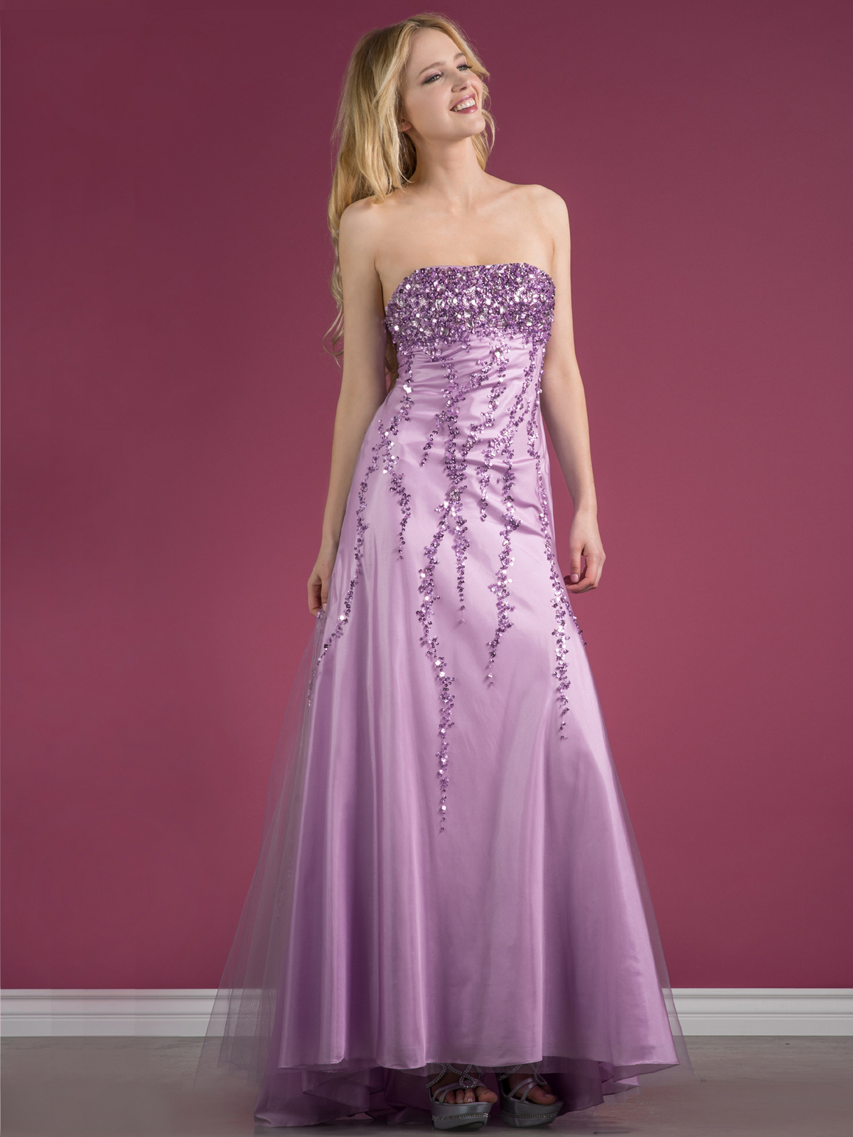 Sequin Purple Formal Dresses