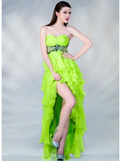 Neon Empire Waist High Low Prom Dress Sung Boutique L A