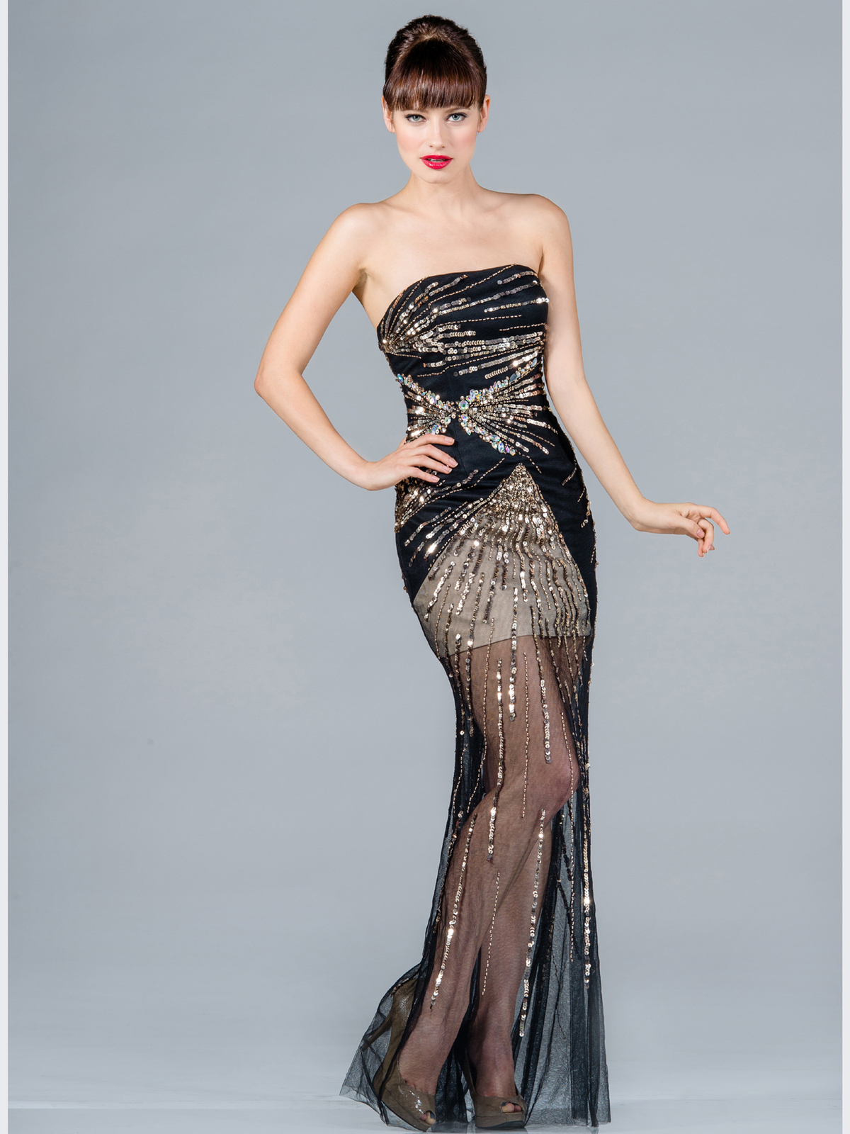 Sequin Embellished Prom Dress | Sung Boutique L.A.