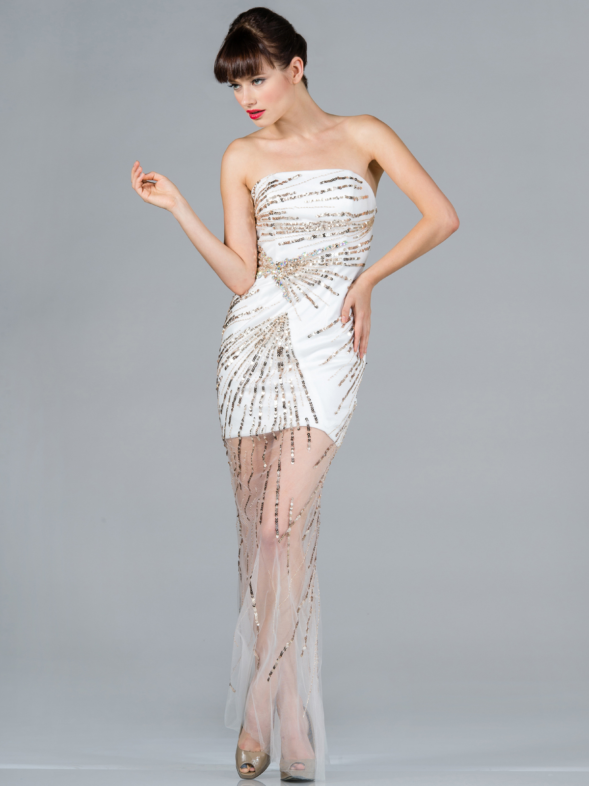 Sequin Embellished Prom Dress Sung Boutique L A