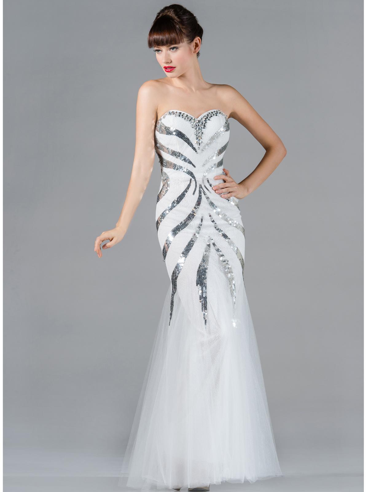 Sequin Decor Prom Dress Sung Boutique L A