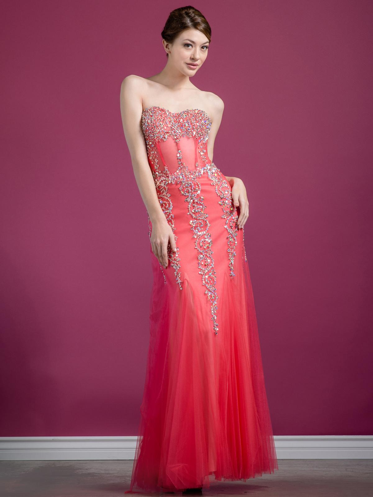 Coral Evening Dress