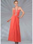 Chiffon Halter Evening Dress