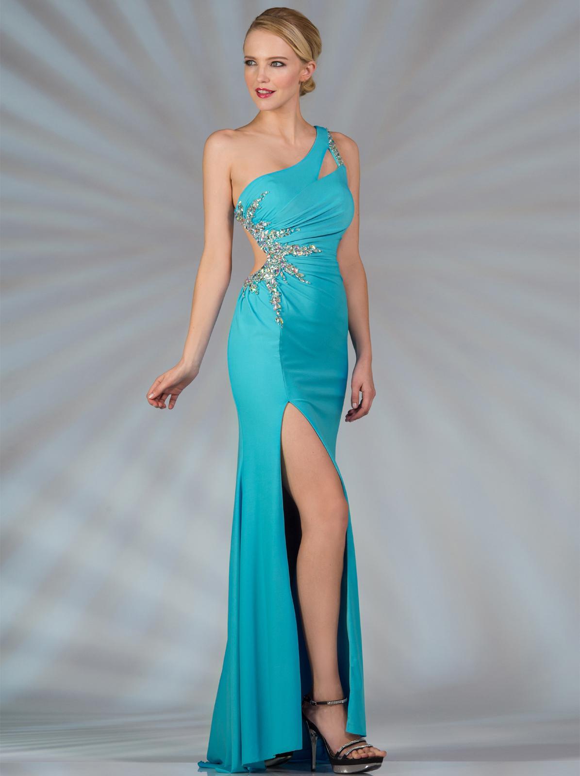 One Shoulder Cut Out Evening Dress - Sung Boutique L.A.
