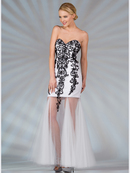 Sweetheart Vintage Beaded Prom Dress