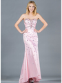 JC2512 Baby Pink Jeweled Prom Dress - Baby Pink, Front View Thumbnail