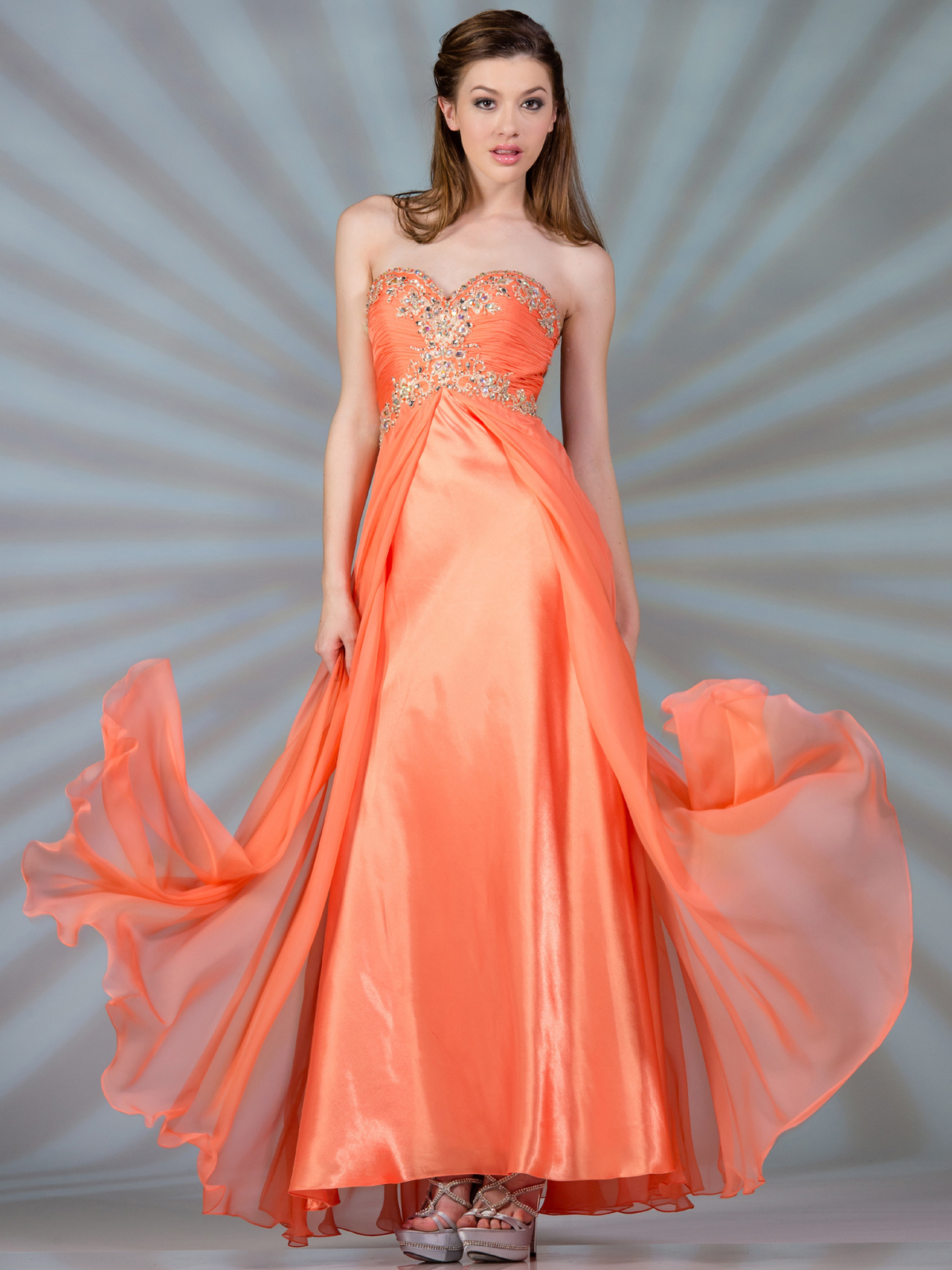 Chiffon Satin Overlay Prom Dress Sung Boutique L A