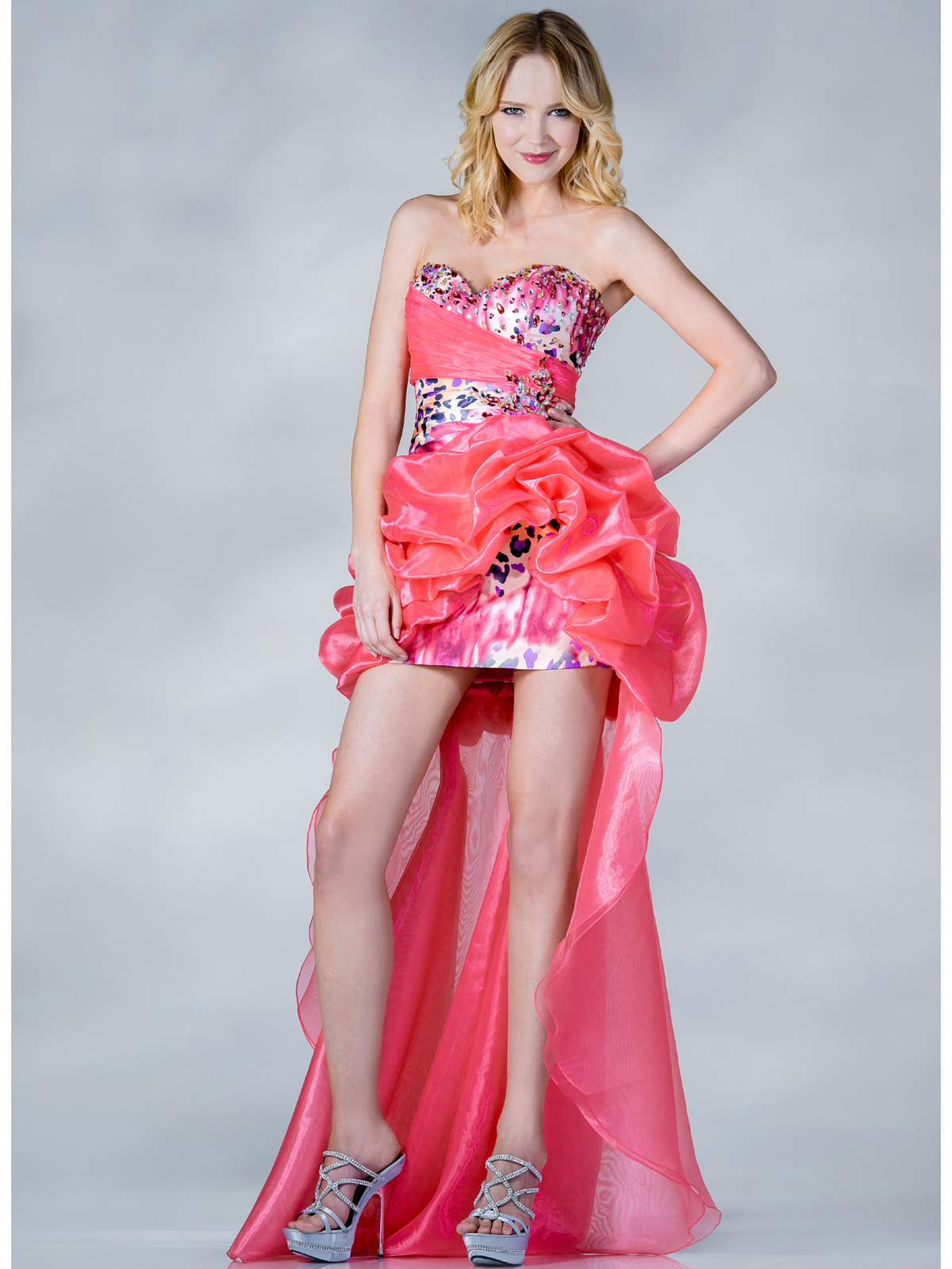 Coral Beaded Leopard Prom Dress | Sung Boutique L.A.