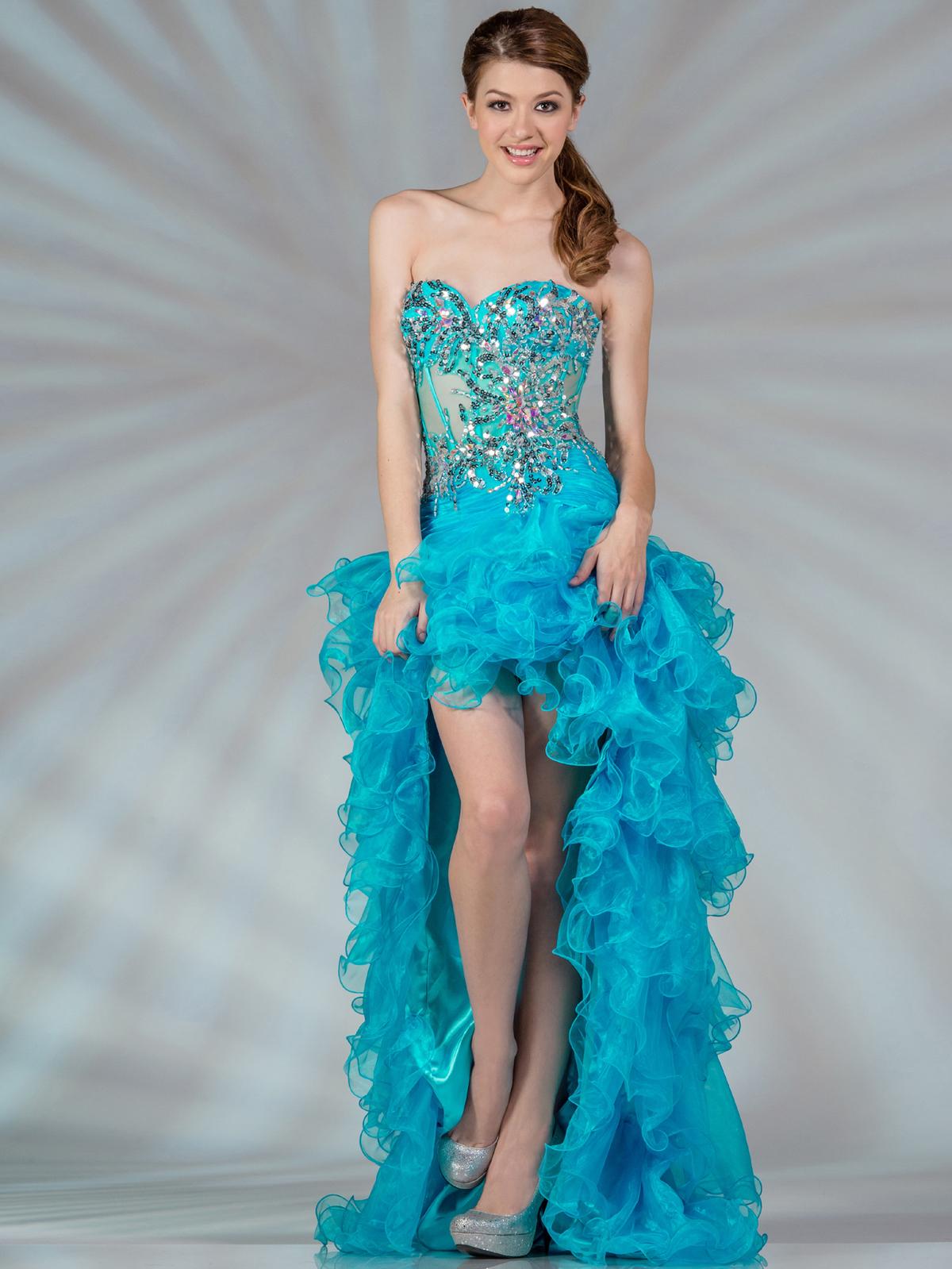Sheer Corset High Low Dress Sung Boutique L A