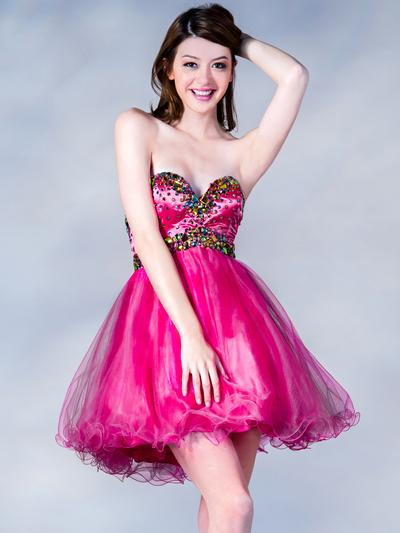 Multi Color Stone Prom Dress Sung Boutique L A