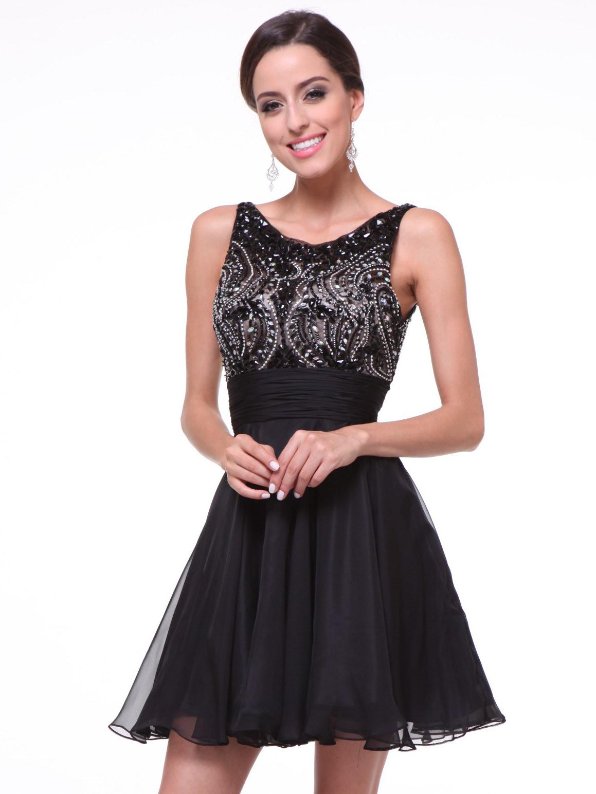 Short Black Beaded Dress