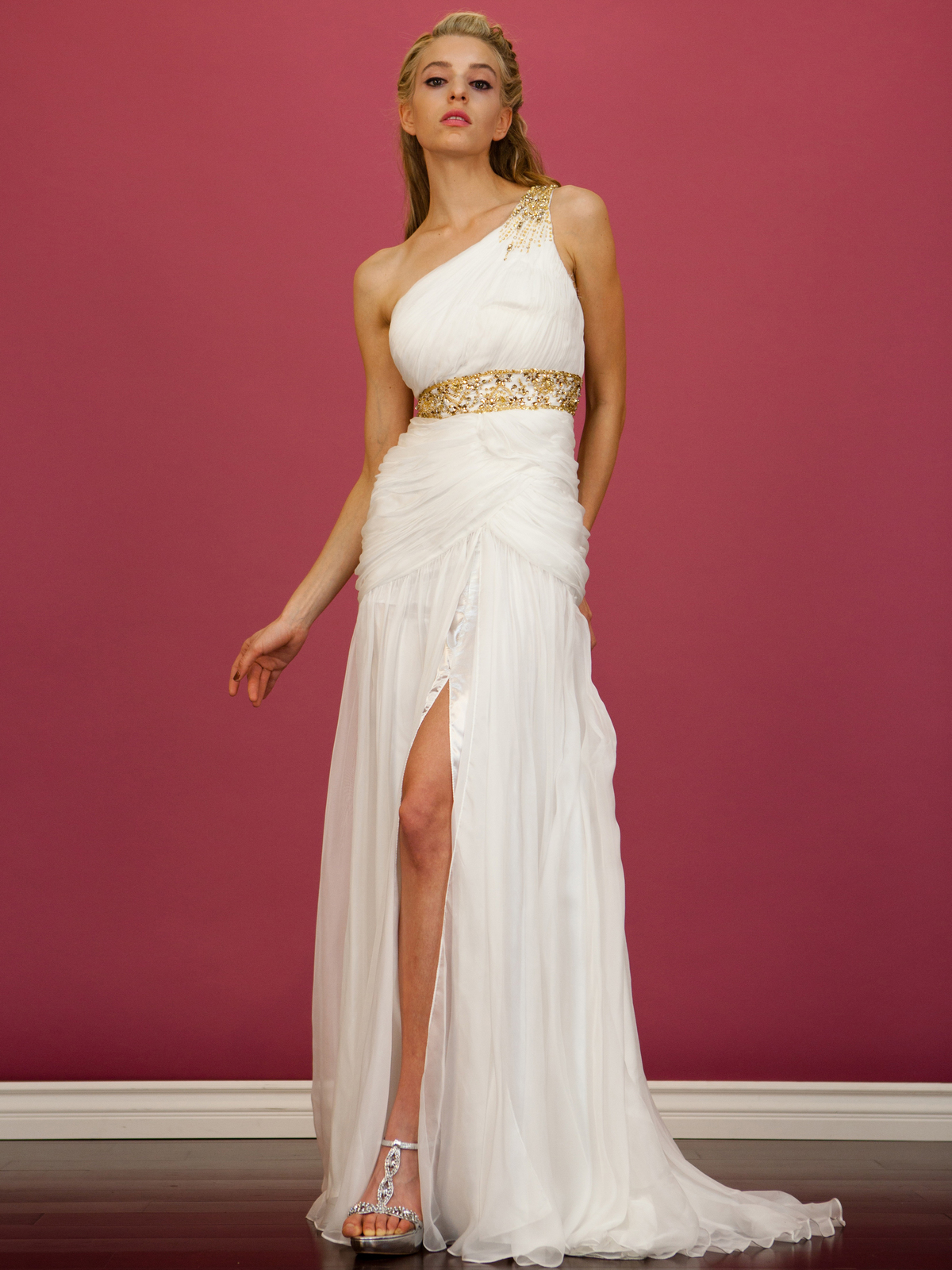 One Shoulder Grecian-Inspired Evening Dress | Sung Boutique L.A.