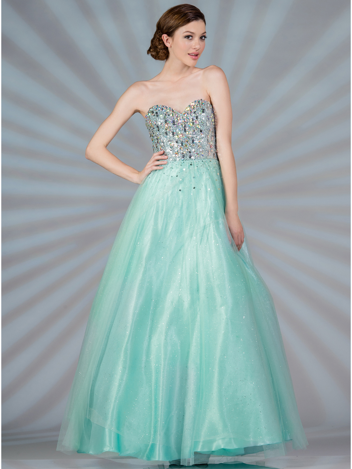 Mint Beaded Fairytale Prom Dress | Sung Boutique L.A.