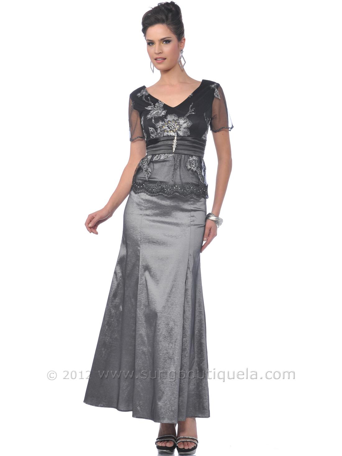 Charcoal MOB Evening Dress | Sung Boutique L.A.