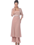 Dusty Rose 2 Piece Mother of the Bride Evening Gown
